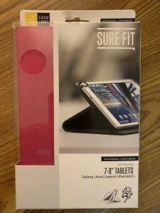 "Case Logic Sure Fit Universal 7-8"" Tablet Case, Hot Pink - Galaxy, iPad mini"