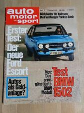AMS 75/03 BMW 1502 - Ford Escort II 1300 GL - Lancia Beta Coupe