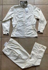 NIKE GOLF Women's Packable Rain Suit Jacket/Pants-Clima-FIT---Pearl---Medium-NWT