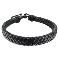 HOT Leather Bracelet Bangle Cuff Rope Black Surfer Wrap Adjustable Men Women