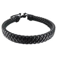 HOT Leather Bracelet Bangle Cuff Rope Black Surfer Wrap Adjustable Men Women