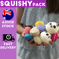 Pack Of Squishy Squishies Macaron Panda Cute Kawaii Stocking Filler Present2p/4p