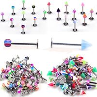 30pcs Wholesale Mixed 18g UV Labret Lip Tragus Bar Barbell Rings Body Jewelry