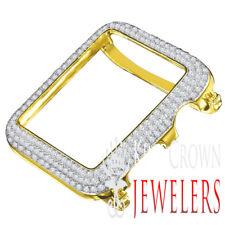 10K Yellow Gold Finish Apple Watch Bezel Series # 2 Simulated Diamond Cover Case