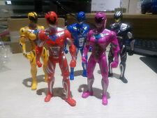 Power Rangers 2017 Movie 5pcs/Set 17cm Action Figures Toys PVC LED - New
