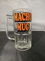 Vintage Tom Wilson Ziggy Macho Mug 1979 Large Heavy Beer 32oz Drinking Glass