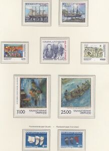GLD070) Greenland 1998, set of 9, Augo & Frederik Lynge Politicians, Europa - Fe