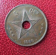Congo Belge  - Leopold II - Superbe monnaie de 5 Centimes 1888 - frappe médaille