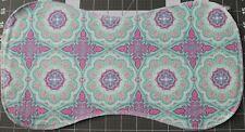 New Flannel Burp Cloths Large Soft 2 Layer Handmade pink purple mint