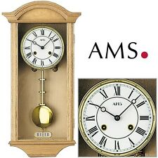 AMS 614/5 regulateur horloge à pendule massivholztür chêne 14-tage rundgong