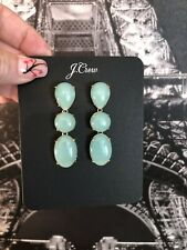 J.Crew TRIPLE STONE DROP EARRINGS! Sold Out! New$39.50 Vintage Aqua With Bag!