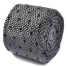 Cravate gris pour homme en 100% soie