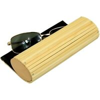 Glasses Sunglasses Reading Eyeglasses Protection Case, Made of Bamboo