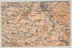 Denmark, Area Map, Vintage Postcard, Lot - 21