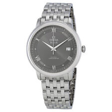 Omega Prestige Co-Axial Grey Dial Mens Stainless Steel Watch 424.10.40.20.06.001