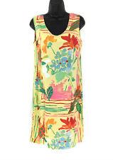 Jams World Size 9 Women's Hawaiian Dress Rayon Sleeveless Bird Floral