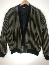 Vintage Pancaldi And B Silk Striped Jacket Size 56
