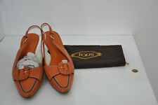 ** TOD's ** Orange Leather Shoes ** 39 ** with original dust bag **
