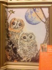 (C) Twilight Owls And Moon By Pollyanna Pickering Cross Stitch Chart