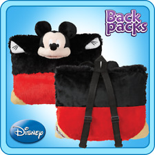 Authentic Pillow Pet Disney Mickey Mouse Backpack  for Notebooks and Tablets Plu