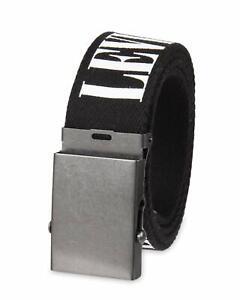 Levi's Men's 38MM Wide Military Web Fabric Belt Black