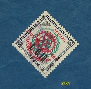 1955 - Honduras - UN overprinted in red 50th anniv. of Rotary - Scott #C239 - 2c