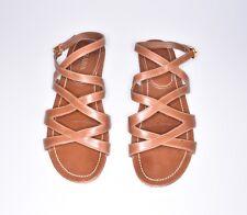 PRADA Sandals schuhe sandalen sz. 39.5 6.5 UK 9 US beige like new stunning!