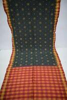 Indian Bollywood Patola Ikat Heavy Saree Pure Silk Printed Fabric Woven Sari