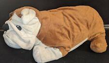 "Ikea Gosig Bulldog Brown White Puppy Dog English Stuffed Animal Plush Large 21"""