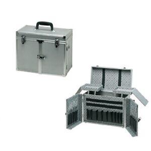 Comair Tool Box Theatro Silver Aluminium With Sliding Doors 32 x 45 X 20 CM