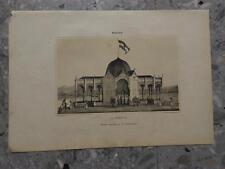1862 Litografía Malaga La Andalucia Kiosko levantado en el Embarcadero