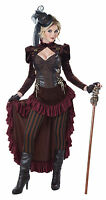 Victorian Era Gilded Brass Age Wild West Dress Steampunk Costume Adult Women