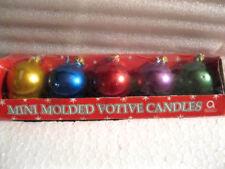AMSCAM INC. - MINI MOLDED VOTIVE CANDLES - CHRISTMAS BALLS MIP Set of 5