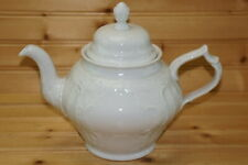 """Rosenthal Sanssouci White Classic Rose Teapot, 5 1/8"""" with Lid"""