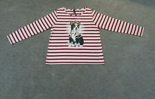 Dangerfield Size 10 Red and Pink Stripe Long Sleeve Dog Print Top.