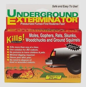 >>> Manning UNDERGROUND EXTERMINATOR Kills Rodents Pests Moles Rats Snakes UE-12