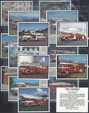 GRAIN PRODUCTS (NZ)-FULL SET- FIRE ENGINES (L20 CARDS) - EXC+++