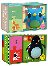 Roger Priddy First Words & Home Sweet Home 123 Books,Puzzles,Plush Owl & Penguin