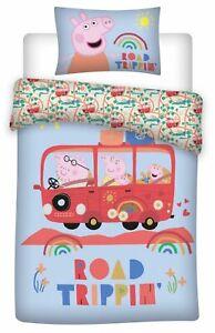 Peppa Pig Family BabyBettwäsche-Set 100x135 40x60 Klein-Kinderbettwäsche Road Tr