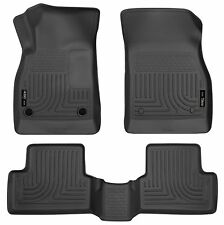 Husky Liners WeatherBeater Floor Mats - 3pc - 98191 - Chevy Malibu 13-15 - Black