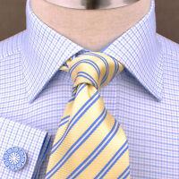 Mens Stylish Luxury Blue Dress Shirt Formal Business B2G GQ Paisley Boss Fashion