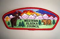 OA WESTERN ALASKA COUNCIL SHOULDER PATCH CSP BROWN BEAR MOOSE FLAP