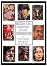 1 SKETCH CARD COMMISSION COMIC ART, PORTRAITS & MORE FROM STEVEN BURCH ACEO PSC Comic Art
