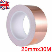 20mm*30M Adhesive Conductive Copper Slug Foil Tapes Repellent Guitar EMI Shield