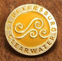 St. Petersburg Clearwater Florida Travel Lapel Hat Pin Pinback ~ Tampa Bay ~ FL