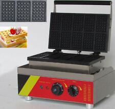 10pcs Commercial Waffle Maker Electric Waffle Machine No-stick Belgian Waffle