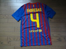 Barcelona #4 Fabregas 100% Original Jersey Shirt S 2011/12 Home Good Condition
