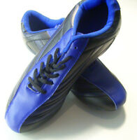 Mens Blue Black Spikes Football Sneakers Indoor Outdoor Trained Soccer Shoes