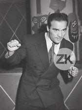 MARCEL CERDAN Boxe Boxing Boxeur Bombardier marocain Photo 1940s