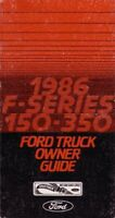 Bishko OEM Maintenance Owner's Manual Bound for Ford Truck F150-350 1986